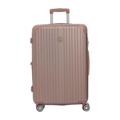 Βαλίτσα ροζ - χρυσή μεγάλου μεγέθους (large)