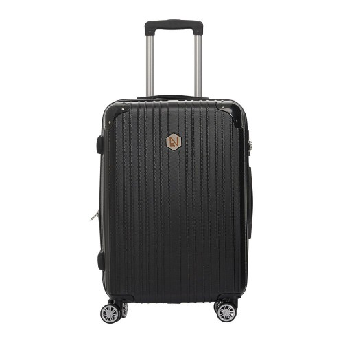 Βαλίτσα σκληρή μαύρη μεσαίου μεγέθους (medium)
