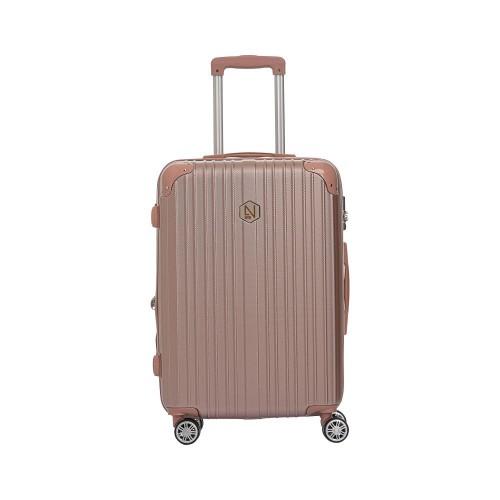 Βαλίτσα ροζ - χρυσή μεσαίου μεγέθους (medium)